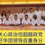 华团应关心政治但超越政党, 行动党吁华团领导自重身分。