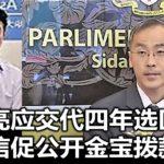 李志亮应交代四年选区拨款,许崇信促公开金宝拨款明细。