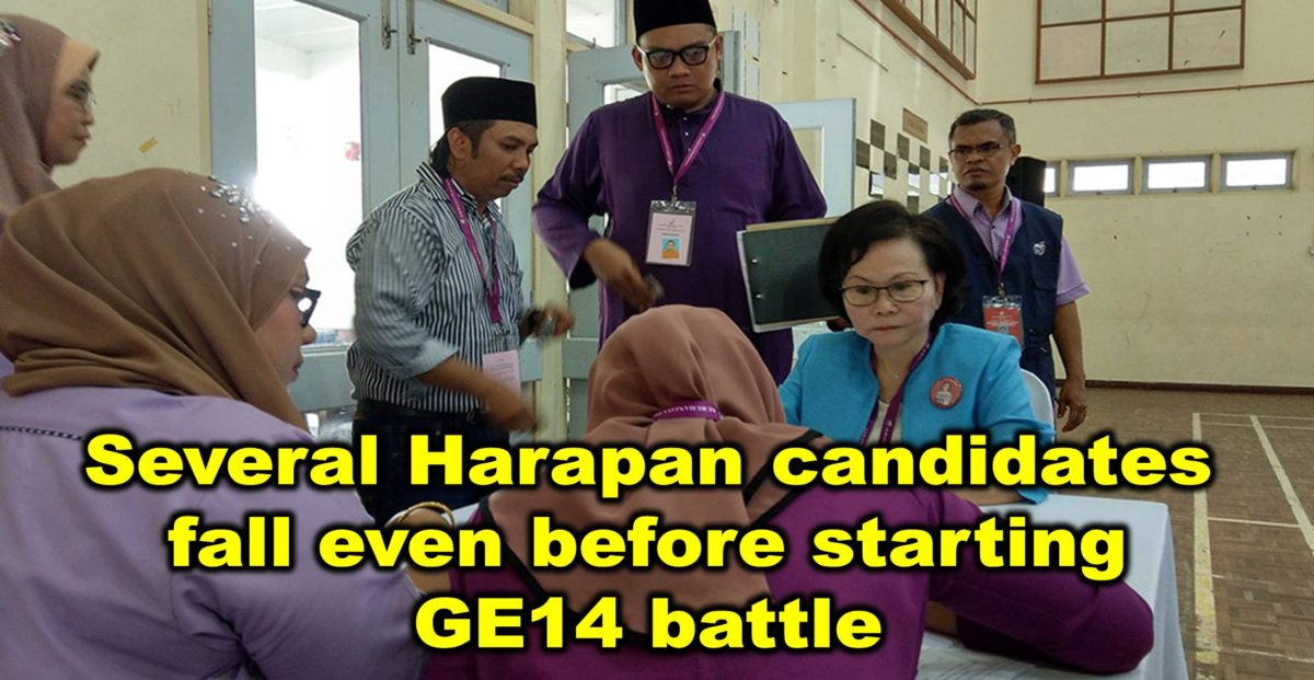 Several Harapan candidates fall even before starting GE14 battle