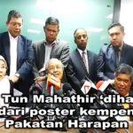 Gambar Tun Mahathir 'diharamkan' dari poster kempen Pakatan Harapan