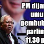 PM dijangka umum pembubaran parlimen 11.30 pagi!!!