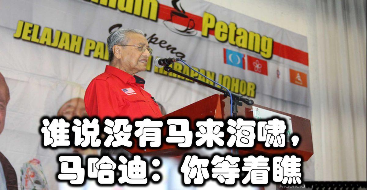 谁说没有马来海啸,马哈迪:你等着瞧