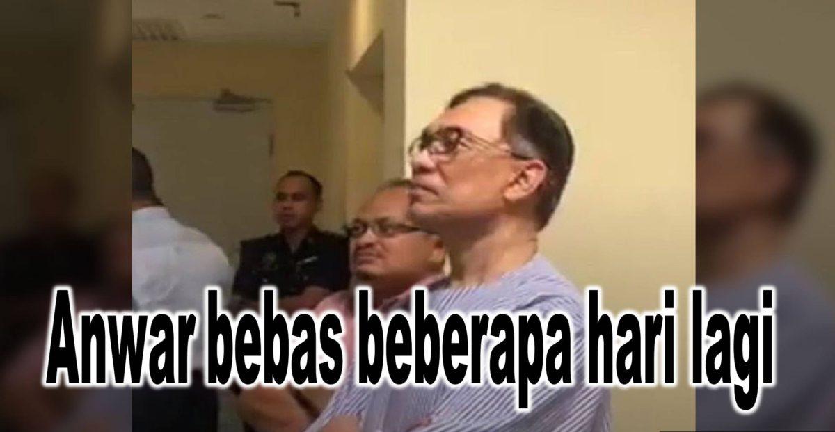 Anwar bebas beberapa hari lagi