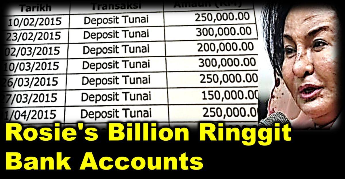 Rosie's Billion Ringgit Bank Accounts