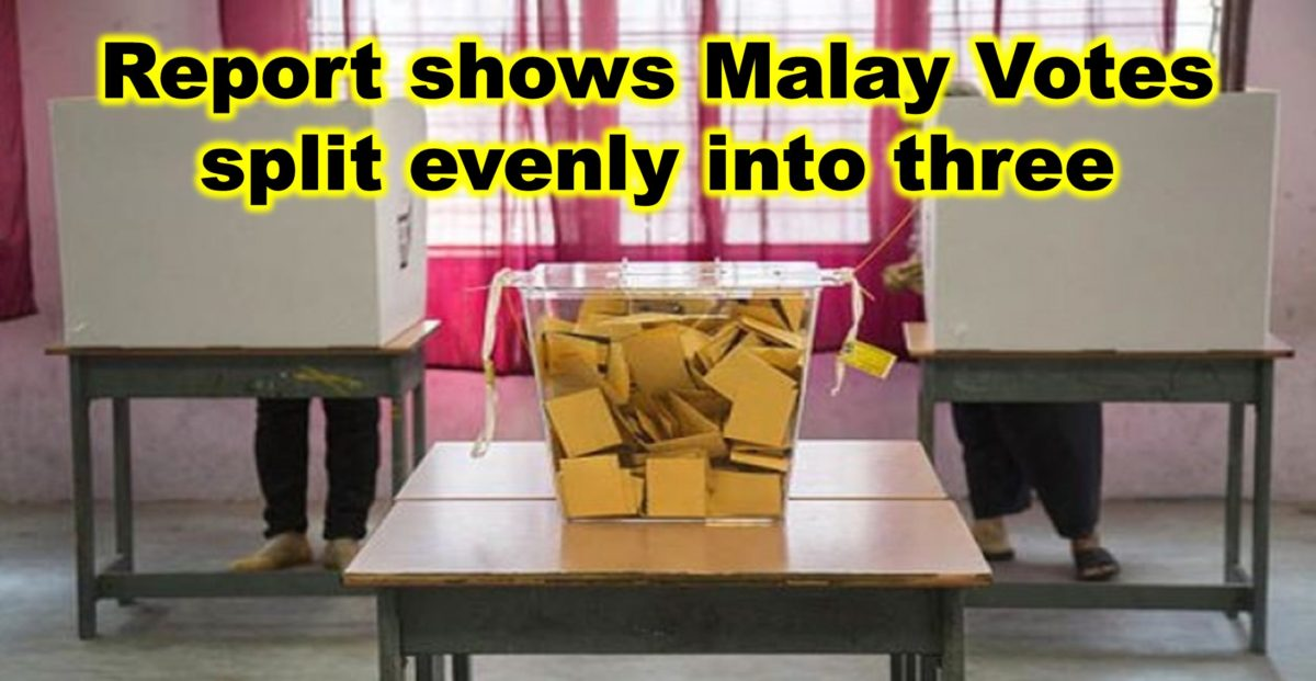 Report shows Malay Votes split evenly into three