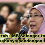 Wan Azizah : MB Selangor tak dapat restu hanya pandangan Idris
