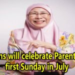 Malaysians will celebrate Parents Day on first Sunday in July