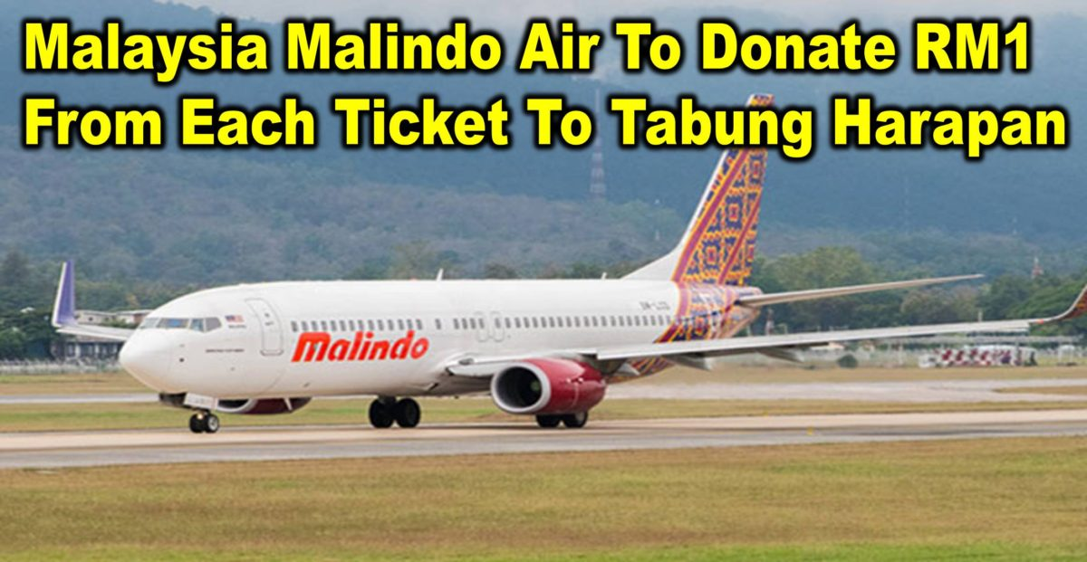 Malaysia Malindo Air To Donate RM1 From Each Ticket To Tabung Harapan