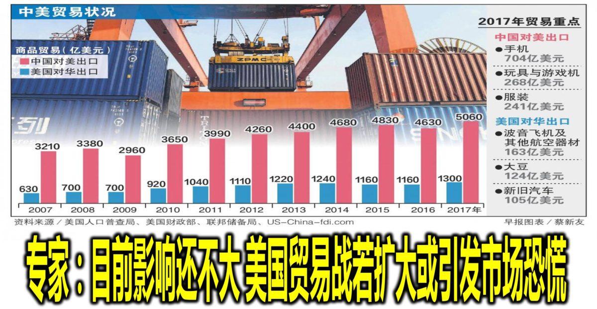 专家:目前影响还不大 美国贸易战若扩大或引发市场恐慌