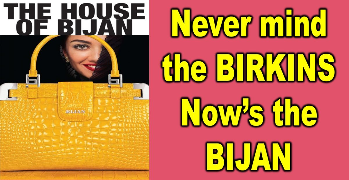 Never Mind the BIRKINS, Now's the BIJAN