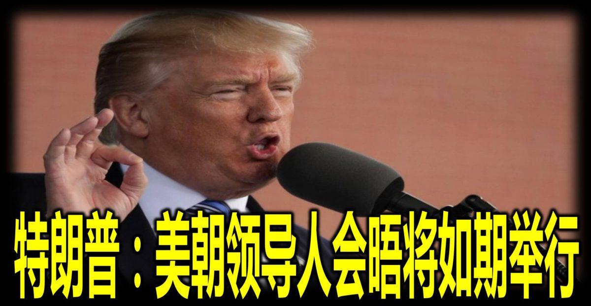 特朗普:美朝领导人会晤将如期举行