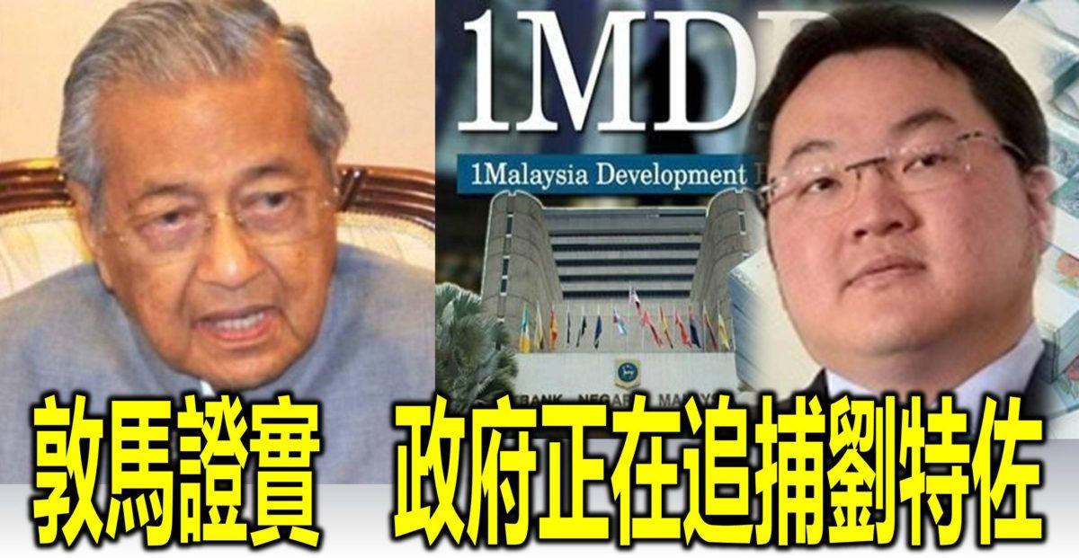 敦馬證實 政府正在追捕劉特佐