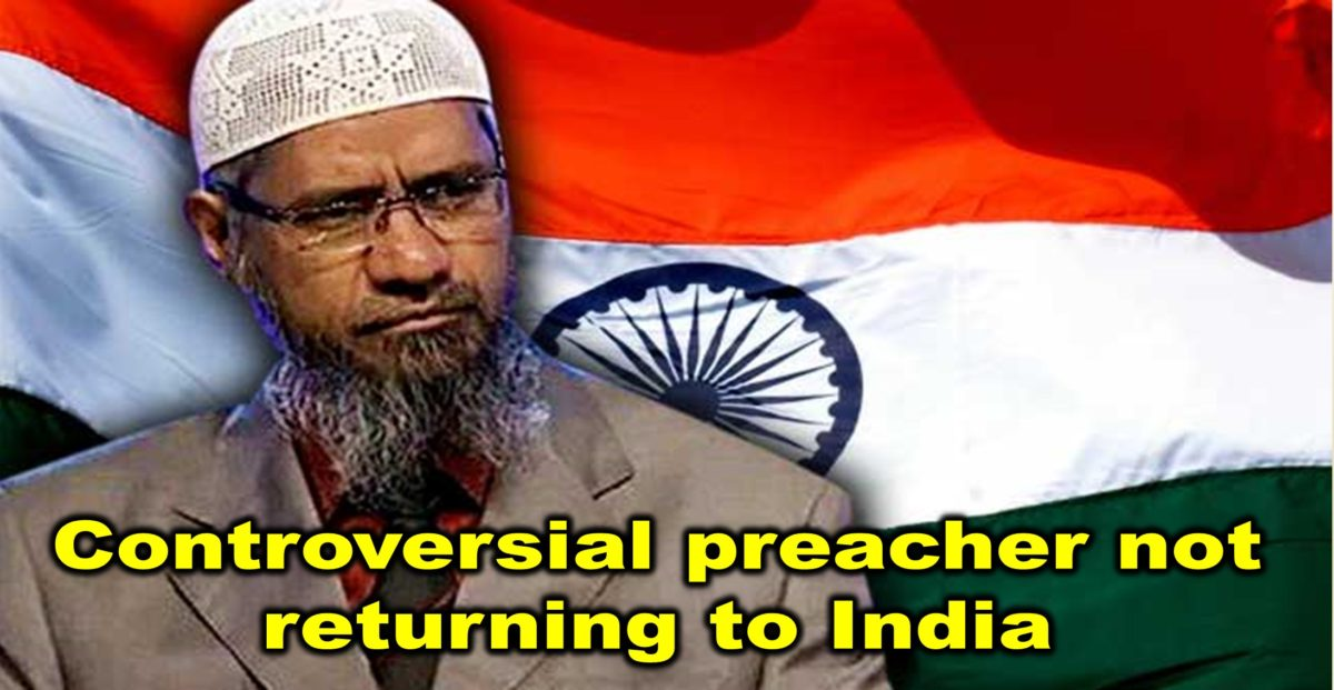 Controversial preacher not returning to India