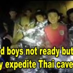 Trapped boys not ready but heavy rain may expedite Thai cave rescue