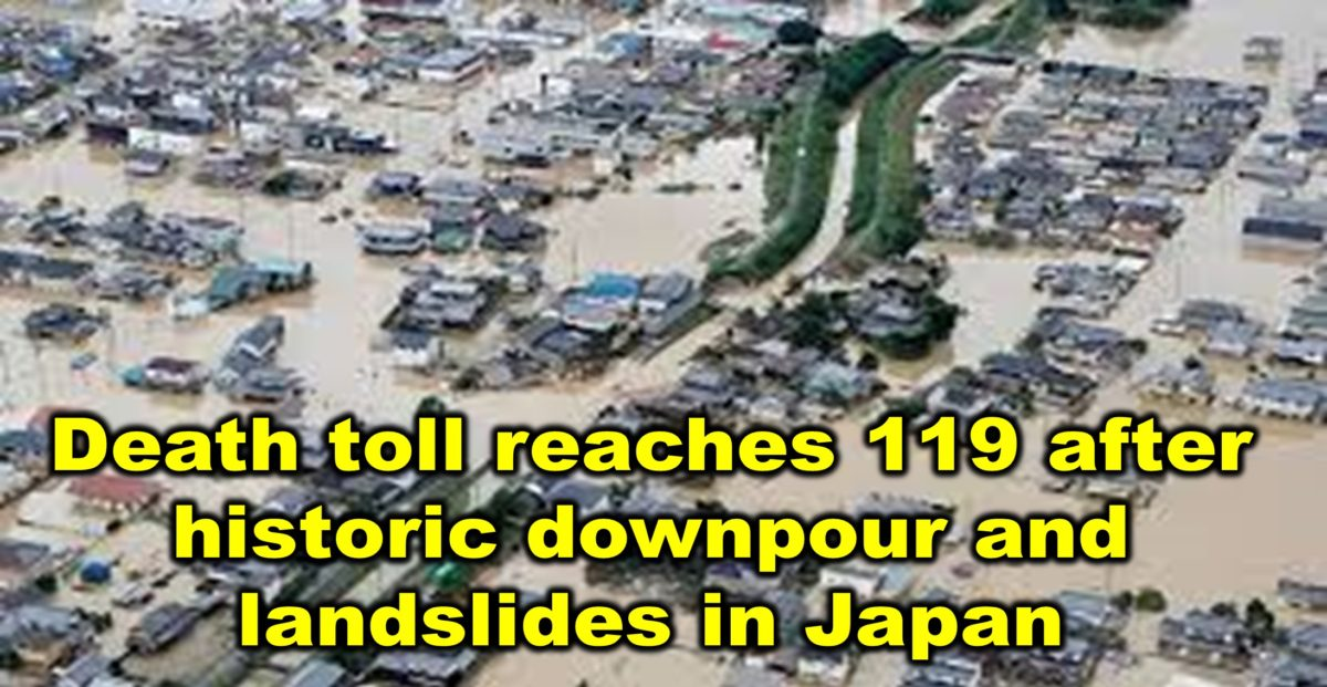 Death toll reaches 119 after historic downpour and landslides in Japan