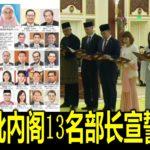 第二批內阁13名部长宣誓就任