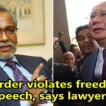 Gag Order violates freedom of speech, says lawyers