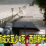 日本暴雨成灾至少4死 西部新干线停驶