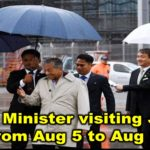 Prime Minister visiting Japan from Aug 5 to Aug 9