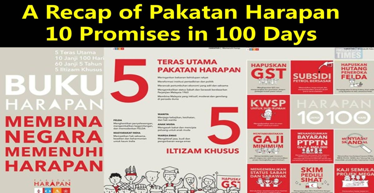 A Recap of Pakatan Harapan  10 Promises in 100 Days