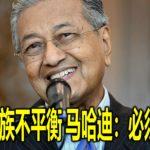 我国种族不平衡 马哈迪:必须纠正