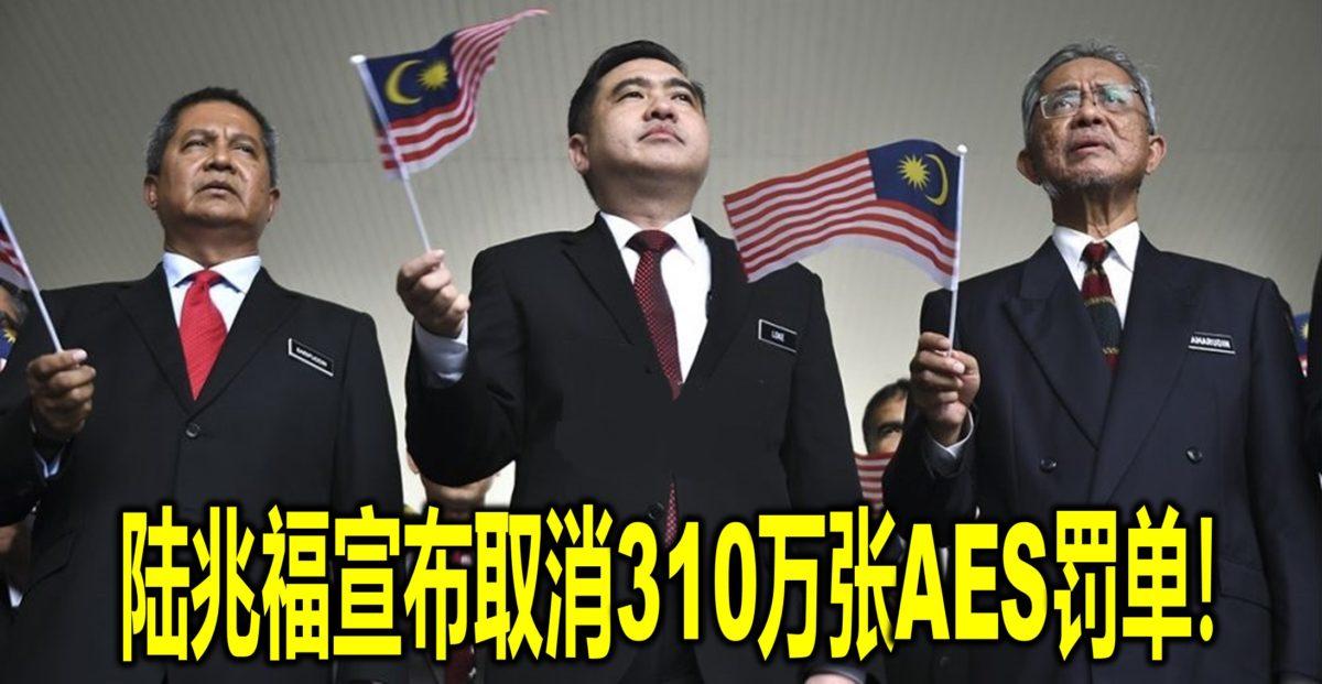 陆兆福宣布取消310万张AES罚单!