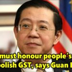 Senate must honour people's wish to abolish GST, says Guan Eng