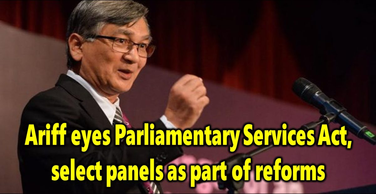 Ariff eyes Parliamentary Services Act, select panels as part of reforms