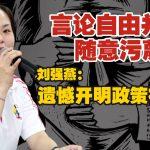 言论自由并非随意污蔑 刘强燕:遗憾开明政策被滥用