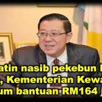 Prihatin nasib pekebun kecil getah, Kementerian Kewangan umum bantuan RM164 juta