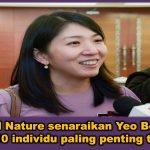 Jurnal Nature senaraikan Yeo Bee Yin antara 10 individu paling penting tahun ini
