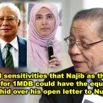 Offends all sensitivities that Najib as the leading kleptocrat for 1MDB could have the equanimity to troll Mujahid over his open letter to Nurul Izzah