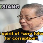 "LIMKITSIANG : In the spirit of ""zero tolerance for corruption"""