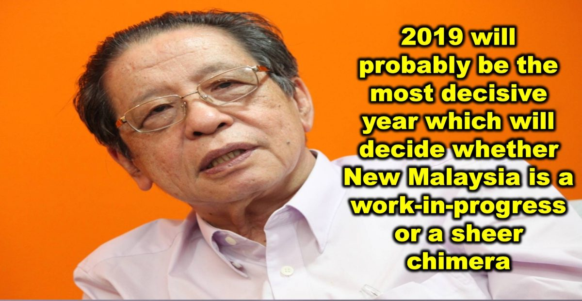 2019 will probably be the most decisive year which will decide whether New Malaysia is a work-in-progress or a sheer chimera