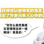 旺师傅以他特有的毒舌,说出了许多马来人心中的话