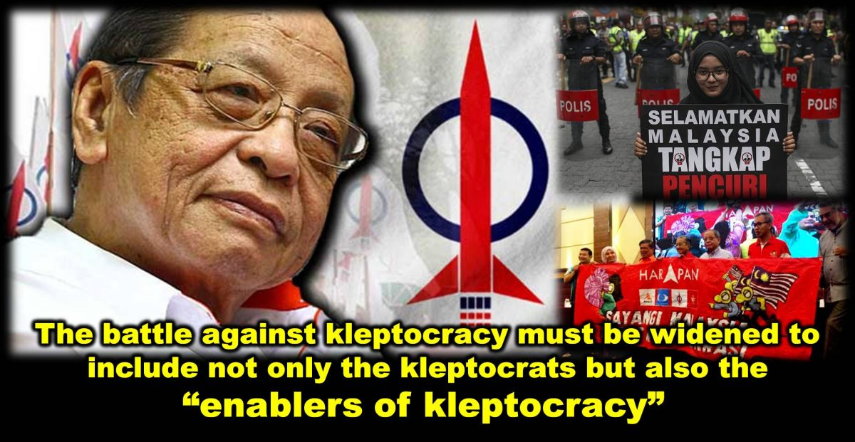 "The battle against kleptocracy must be widened to include not only the kleptocrats but also the ""enablers of kleptocracy"""