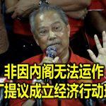 非因內阁无法运作 慕尤丁提议成立经济行动理事会