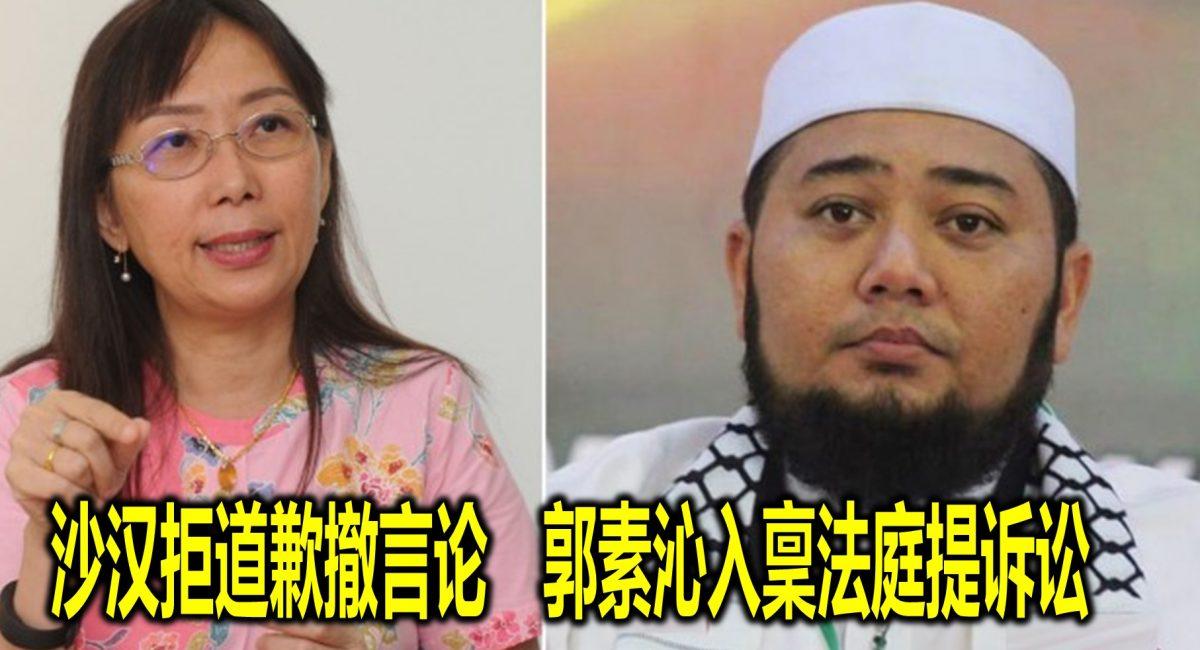 沙汉拒道歉撤言论 郭素沁入稟法庭提诉讼