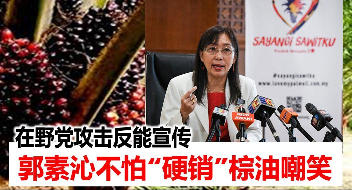 """在野党攻击反能宣传,郭素沁不怕""""硬销""""棕油嘲笑"""